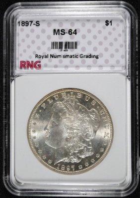 1897-s Morgan Dollar Rng Graded Ch Bu