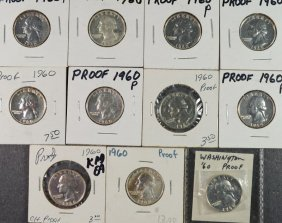 ( 11 ) Gem Proof Washington Quarters,
