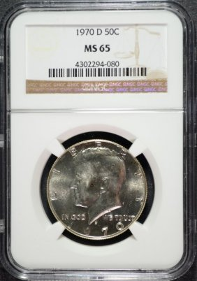 1970-d Kennedy Half Dollar, Ngc Ms-65 Key Date