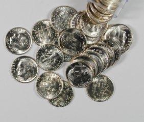 Gem Bu Roll Of Silver Roosevelt Dimes 1964+ Older