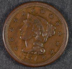 1851 Large Cent Au