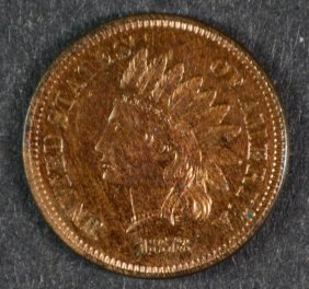 1878 Indian Head Cent Gem Proof Red