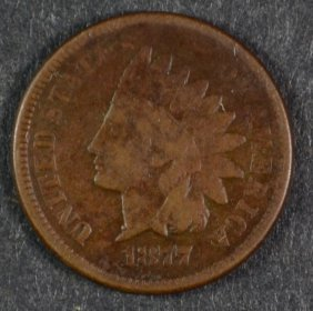 1877 Indian Head Cent F++
