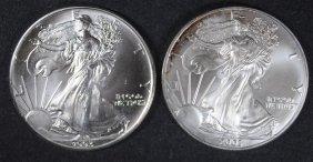 1993 & 2003 Bu American Silver Eagles