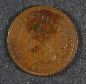 "1864 ""l"" Indian Head Cent Xf+ Key Date"