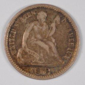 1872 Seated Liberty Half Dime Xf