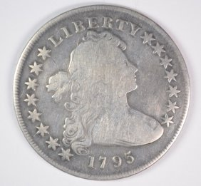 1795 Capped Bust Dollar, Vg+ Very Light Scratch On