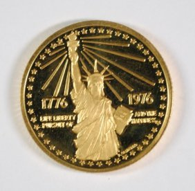 1976 American Revolution Bicentennial Proof Gold Medal