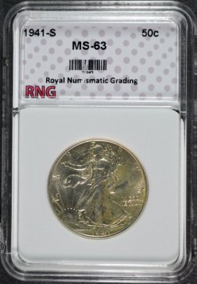 1941-s Walking Liberty Half Dollar Rng Graded Ch Bu