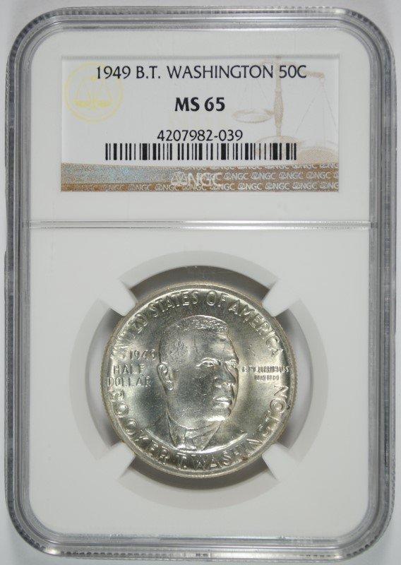 1949 BOOKER T WASHINGTON COMMEM NGC MS65