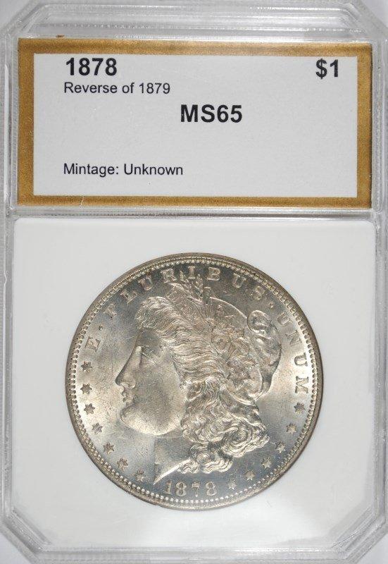1878 REV. OF 79 MORGAN DOLLAR PCI GEM BU