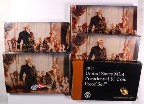 2007 Thru 2011 U.s. Presidential Proof Sets In Nice