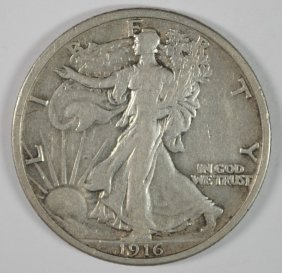 1916 Walking Liberty Half Vf