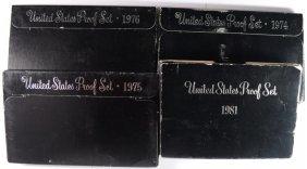 Proof & Mint Set Lot; 1981, '74, '75, '76 & 1972, 1981