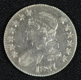 1827 Bust Half Dollar Au/unc White!