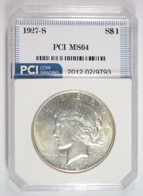 1927-s Peace Silver Dollar, Pci Gem Bu