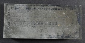 Texas Confederate Printing Block That Produced An 1862