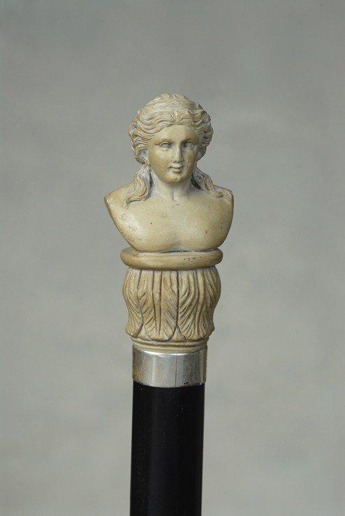 18: A very fine Italian lava cane of the goddess Juno