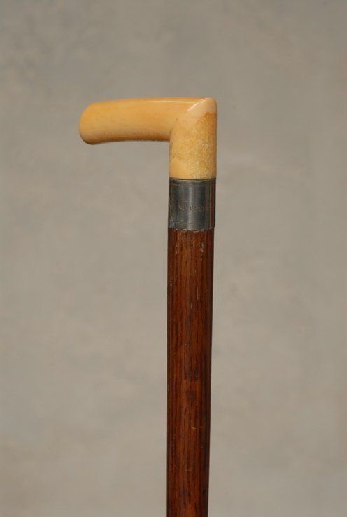 23: An ivory relic cane from U.S. Grant's funeral car