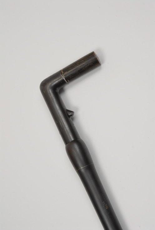 68: A very nice French 20mm cartridge gun cane curio