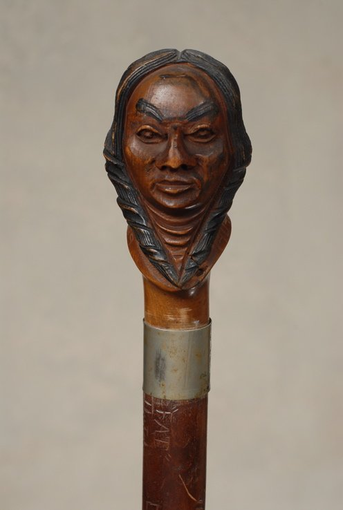 88: A fine 1909 Dartmouth College Indian senior cane