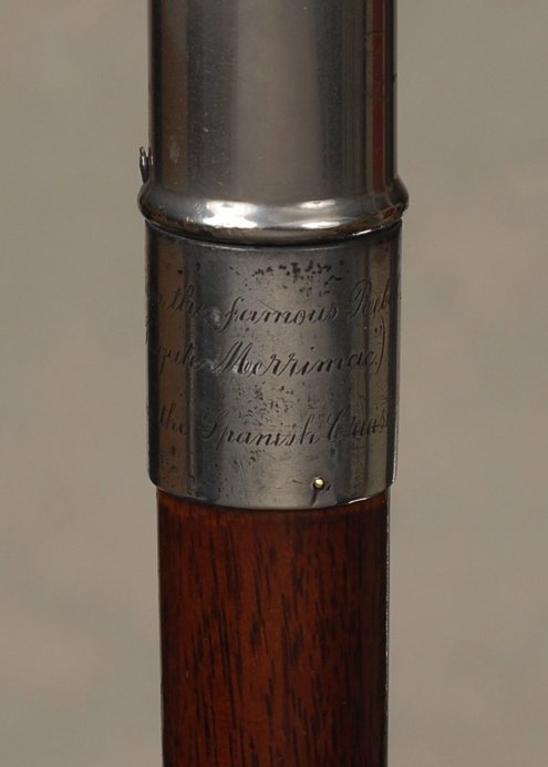 123: A wonderful American double naval relic cane - 4