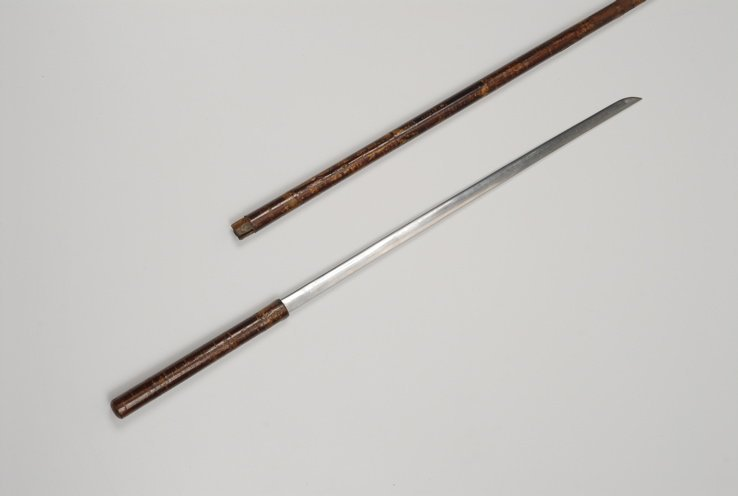 163: A very nice Japanese sword cane curio