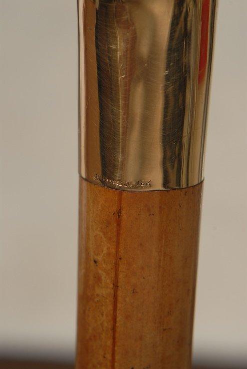 30: An 18k gold Tiffany cane with JFK history - 3