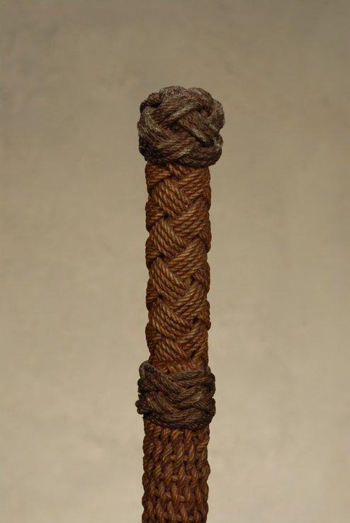 A superb sailor's cording cane