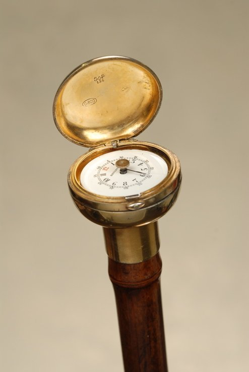 A very nice silver watch cane