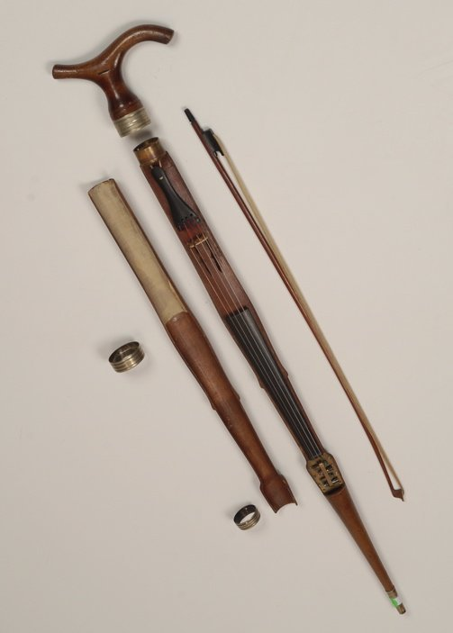 A rare and important violin gadget cane