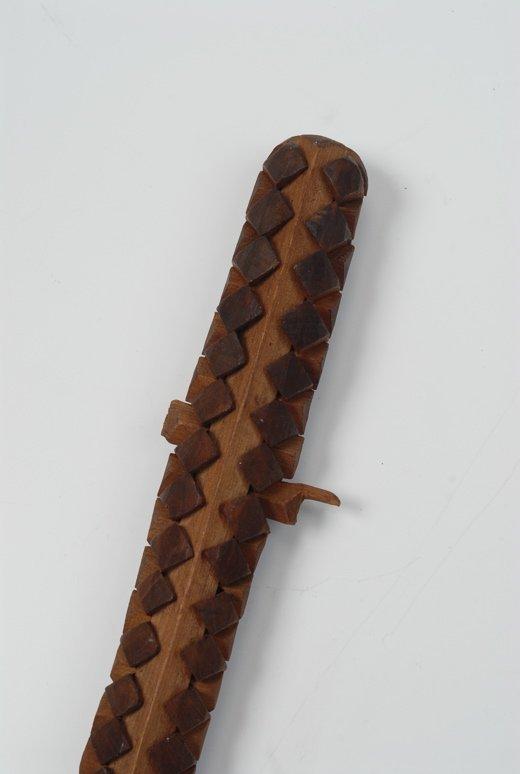 A very fine wood tramp art puzzle cane