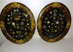 Large Collection of Early Victorian Jewelry in 2 Oval