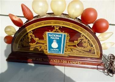 Rare Mazda Lamp Display Sign