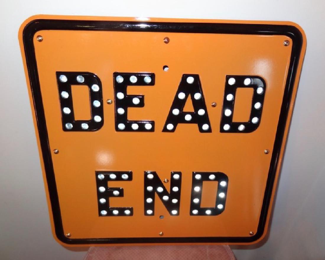 Dead End Cat Eye Restored Sign