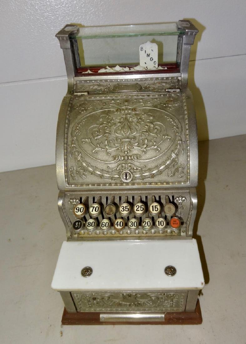 National 313 Brass Cash Register