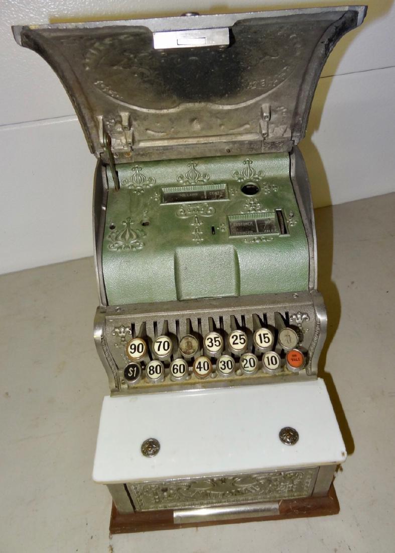 National 313 Brass Cash Register - 2
