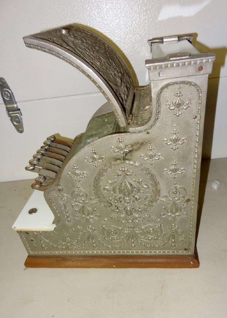 National 313 Brass Cash Register - 3