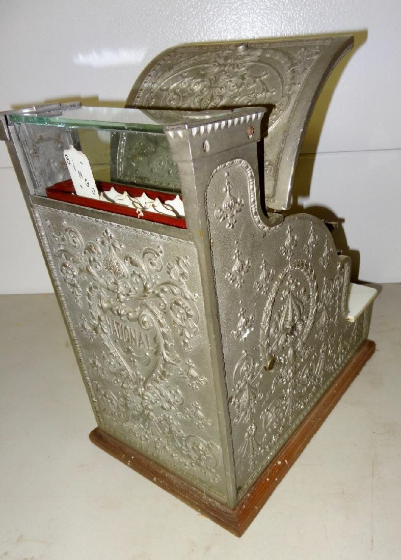 National 313 Brass Cash Register - 4