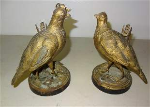 Two Figural Game Birds