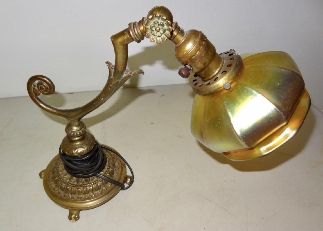 Signed Steuben Quality Adjustable Desk Lamp