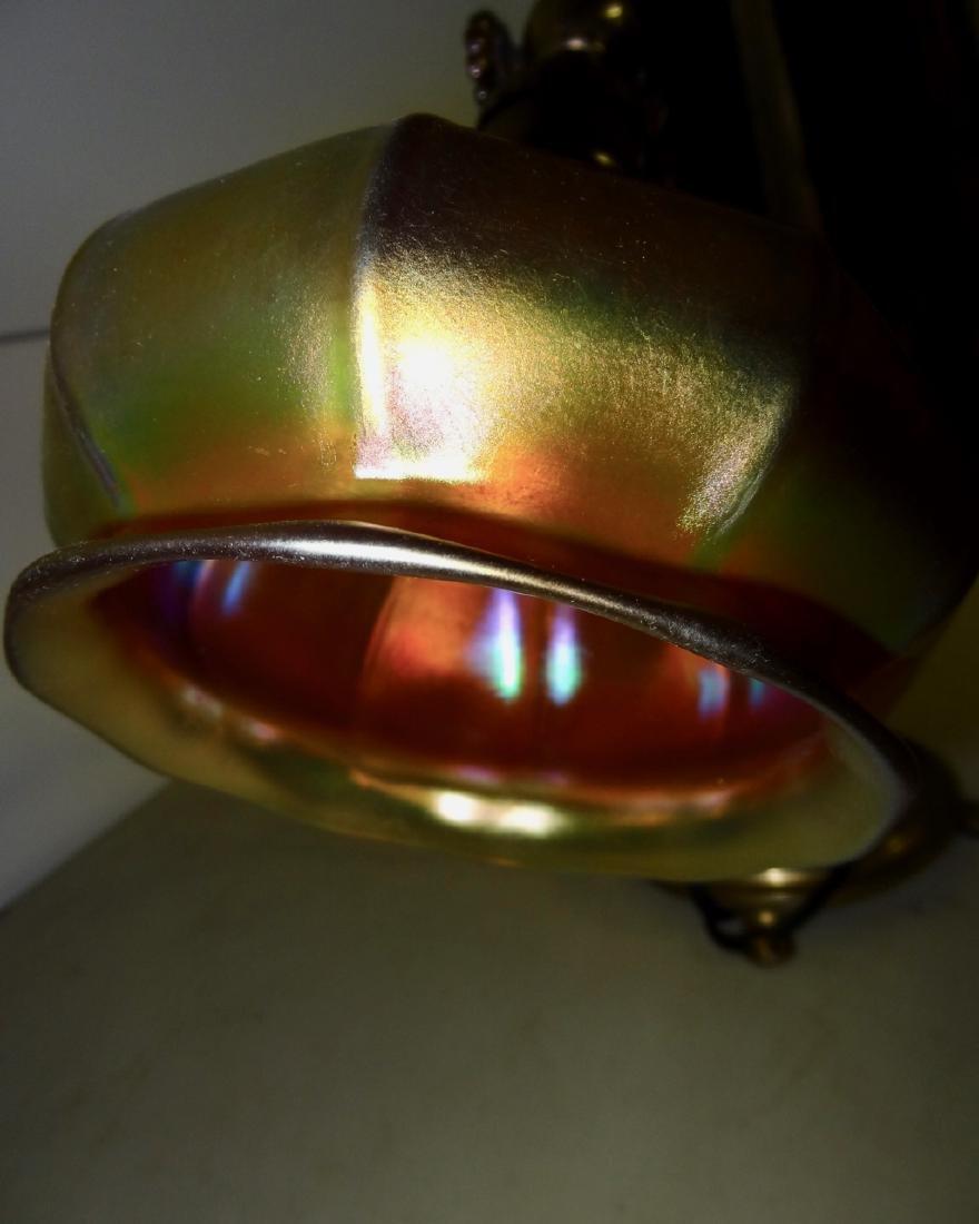 Signed Steuben Quality Adjustable Desk Lamp - 3