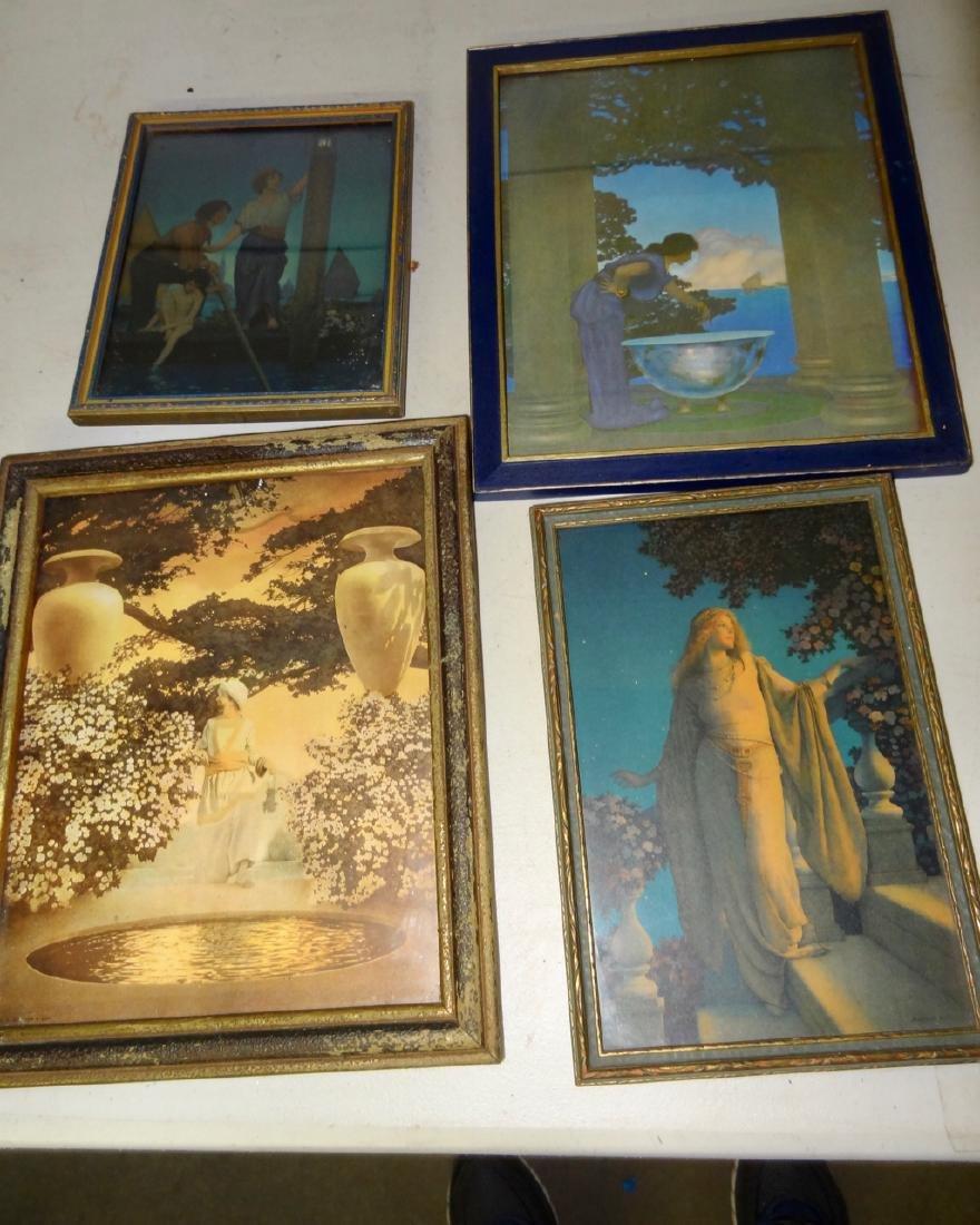 4  Original Maxfield Parrish Framed Prints