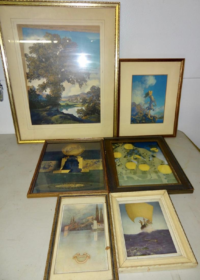 6 Original Maxfield Parrish Framed Prints