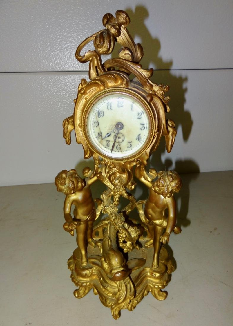 Large Figural Cupid Clock
