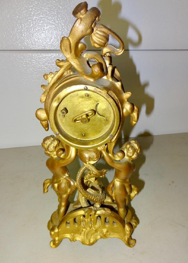 Large Figural Cupid Clock - 2
