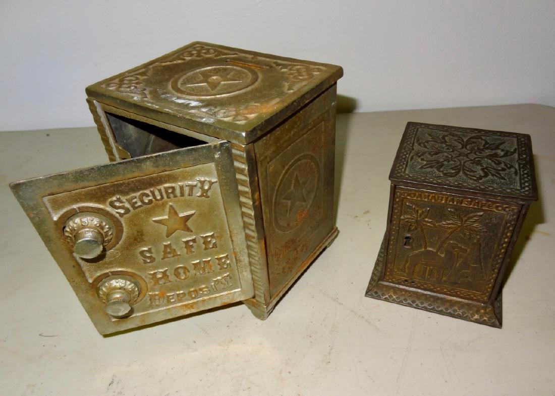 2 Antique Safe Banks