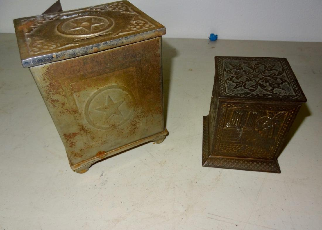 2 Antique Safe Banks - 2