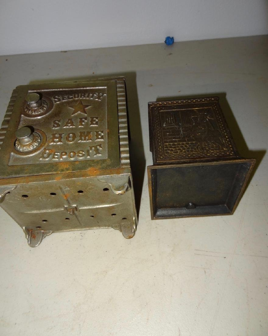 2 Antique Safe Banks - 4