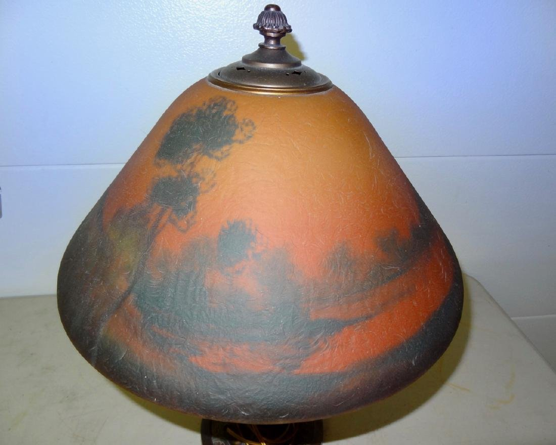 """22"""" Chip Ice Reverse Painted Lamp - 2"""